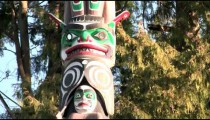 Totem Pole in Stanley Park, Vancouver, Canada.
