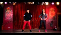 Royalty Free Stock Footage of Two hip hop dancers filmed in slow motion.