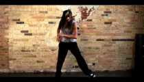 Royalty Free Stock Footage of Young woman dancing hip hop filmed in slow motion.