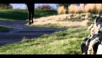 Royalty Free Stock Footage of Wide shot of a man running.