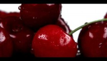 Royalty Free Stock Footage of Close shot panning across red cherries.