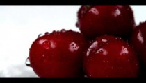 Royalty Free Stock Footage of Close up panning shot across red cherries.