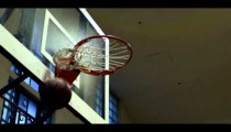 """Royalty Free Stock Footage of Close up of a """"nothing but net"""" basketball shot."""