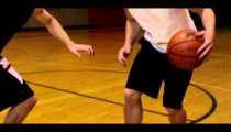 Royalty Free Stock Footage of Jump shot in one-on-one basketball.