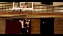 Royalty Free Stock Footage of Layup successful in one-on-one basketball.