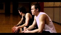 Royalty Free Stock Footage of Two young men taking a break from basketball.