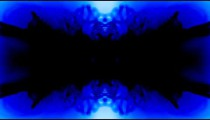 Kaleidoscopic effect of blue, black, and white.