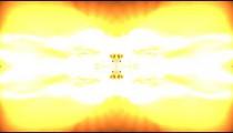 Kaleidoscopic effect of white, yellow, and orange light.