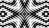 Kaleidoscopic effect and black and white checkerboard.