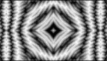 Black and white checkerboard with a kaleidoscopic effect.