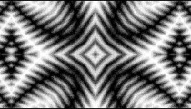 Black and white checkerboard with an intense kaleidoscopic effect.