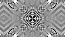 Kaleidoscopic effect with black and white.