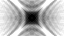 Kaleidoscopic effect with black, white, and grey.
