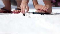 Children digging in salt flats