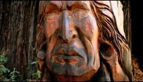Carved Native American Statue (Vertical Shot)