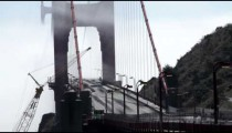Time-lapse of traffic at the north end of the Golden Gate Bridge.