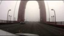Driving Across the Golden Gate Bridge in Fog