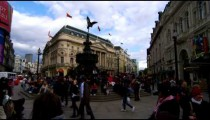 Shot pans across Piccadilly Circus on October 7, 2011 in London.
