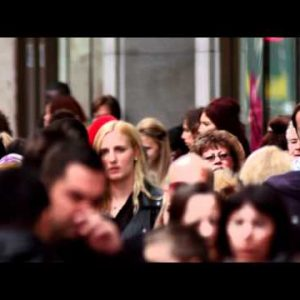 People on crowded Oxford Street on October 8, 2011 in London.