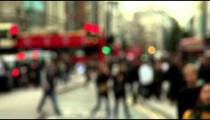 Blurry Oxford Street slow motion