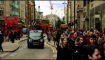 Hustle and bustle on Oxford Street in slow motion on October 8, 2011 in London.
