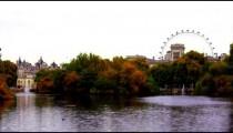 Saint James waterfront with London Eye