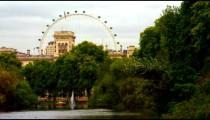 London Eye from green Saint James Park