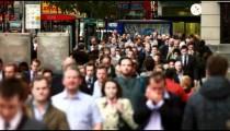 Bustling street in London