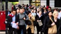 Commuters on a busy street in London