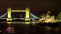 Tower Bridge evening timelapse