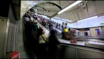 Time lapse of Escalators at Soho Station, London