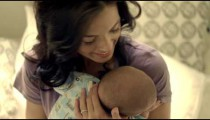 Royalty Free Stock Footage of Mother and baby in bed.