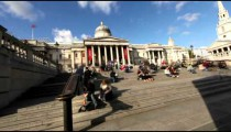 Time lapse of crowds outside the National Gallery on October 7, 2011 in London