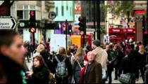 Unidentified people walking on a busy street on October 7, 2011 in London