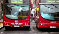 Buses on a street in London