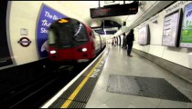Underground train station in London