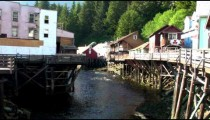 Ketchikan Creek and Creek Street on a sunny day