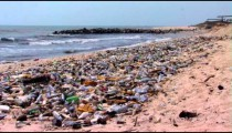 Polluted beach in Africa.