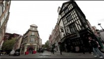 Corner Street with Little Diner near Soho Square on October 9, 2011 in London