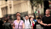 People walking through the city on October 9, 2011 in London