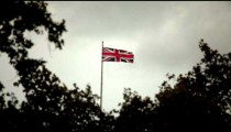 Union Jack flying in the wind.