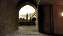 London's Big Ben viewed from a tunnel