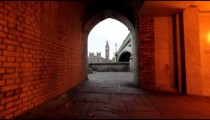 Big Ben viewing from an archway in London