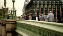 Unidentified people cross Westminster Bridge on October 12011 in London