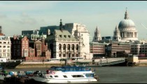 Time-lapse of the Victoria Embankment and St. Paul's Cathedral in London.