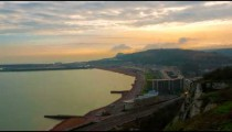 Time-lapse of the coast of Dover, England from the cliffs