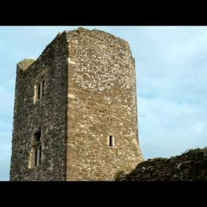 Time-lapse of clouds passing behind a tower of Dover Castle
