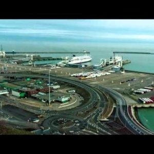 Time-lapse of the docks at Dover, England