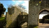 Time-lapse of people entering a gate at Leeds Castle