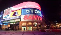 Time-lapse of Piccadilly Circus at night
